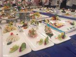 全市海鲜烹饪技能大赛开赛。