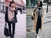 围巾搭配技巧:秋冬的时尚与温暖就靠它了!