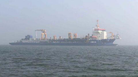 亚洲最大耙吸船助力连云港港30万吨航道建设