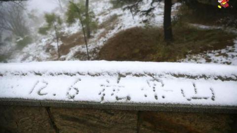 初雪,带你看看连云港花果山的如画美景~